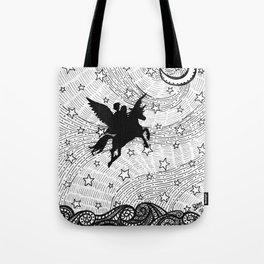 Flight of the alicorn Tote Bag