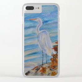 Great Egret Clear iPhone Case