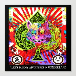 Psychedelic Cheshire Cat Canvas Print