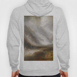 "J.M.W. Turner ""Valley of Aosta - Snowstorm, Avalanche and Thunderstorm"" Hoody"