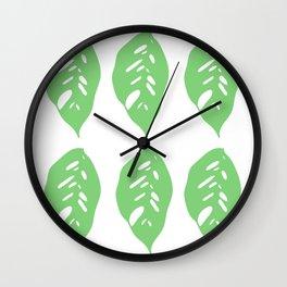 Monstera Obliqua // Monkey Mask Wall Clock