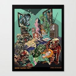 Zombie Slumber Party Canvas Print