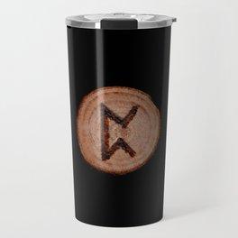 Perthro Elder Futhark Rune of fate and the unmanifest, probability, luck, nothingness, the unborn Travel Mug