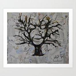 TreeFace Art Print