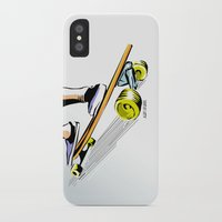 skate iPhone & iPod Cases featuring skate by Cal ce tin