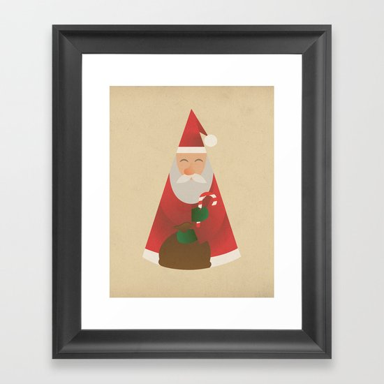 Father Christmas Framed Art Print
