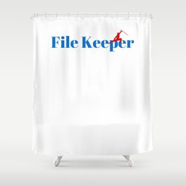 File Keeper Ninja in Action Shower Curtain