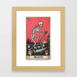 Death Tarot Framed Art Print