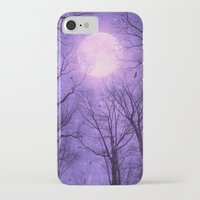 tolkien iPhone & iPod Cases featuring May It Be A Light (Dark Forest Moon II) by soaring anchor designs