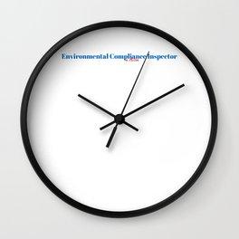 Happy Environmental Compliance Inspector Wall Clock