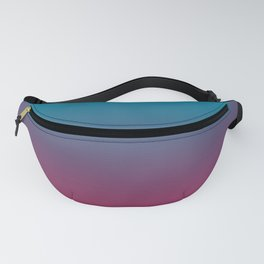 Pantone Barrier Reef 17-4530 and Vivacious Red 19-2045 Ombre Gradient Blend Fanny Pack