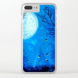 Icy Moonlight Clear iPhone Case