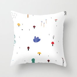 forest flare Throw Pillow