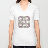 celtic V-neck T-shirts featuring Celtic Knotwork by Carrie at Dendryad Art