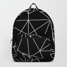 Abstract black white minimalist geometric pattern Backpack