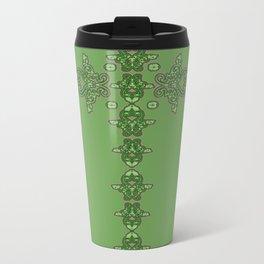 'Green Faith' - Cross of lace in green Metal Travel Mug