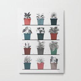 PLANTS SHELF Metal Print