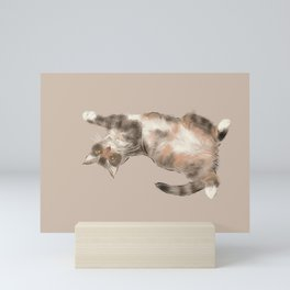 Trusting cat Mini Art Print