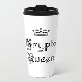 Crypto Queen Metal Travel Mug