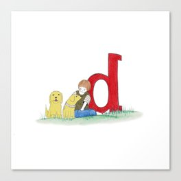 d is for dogs Canvas Print