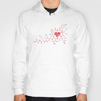 chemistry Hoodies featuring The chemistry of love by elvisbr