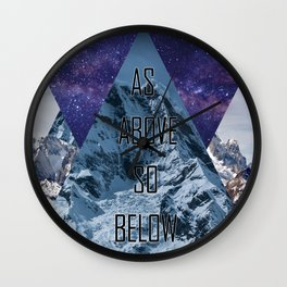 AsAboveSoBelow Wall Clock