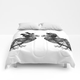 Mr and Mrs Dodo | Black and White Comforters