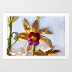 Orchid Abstract Painting Art Print