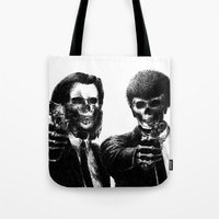 pulp fiction Tote Bags featuring Pulp Fiction by Motohiro NEZU