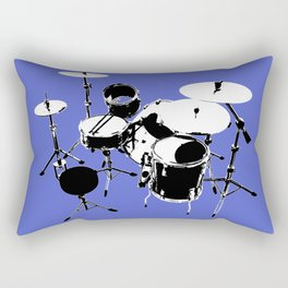 Drumkit Silhouette (backview) Rectangular Pillow