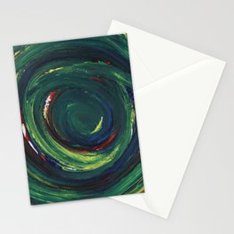 Green Spiral Stationery Cards