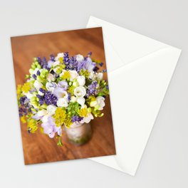 Bridal freesia bouquet wedding flowers Stationery Cards