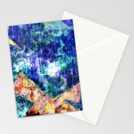 Abstract Structure, Blue, Gold, Pink, Peach, Teal  Stationery Cards