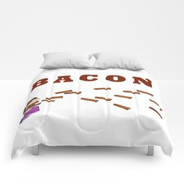 Let the bacon rain! Comforters