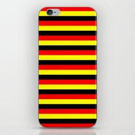 angola belgium uganda flag stripes iPhone Skin