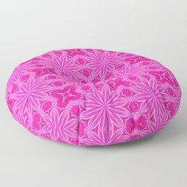Pink Flowers : Flower Cross Pattern Floor Pillow