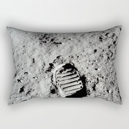 Apollo 11 - First Footprint On The Moon Rectangular Pillow