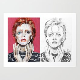 Two Bowies Art Print