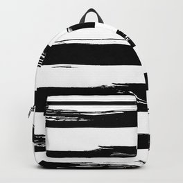 Stylish Black and White Stripes Backpack