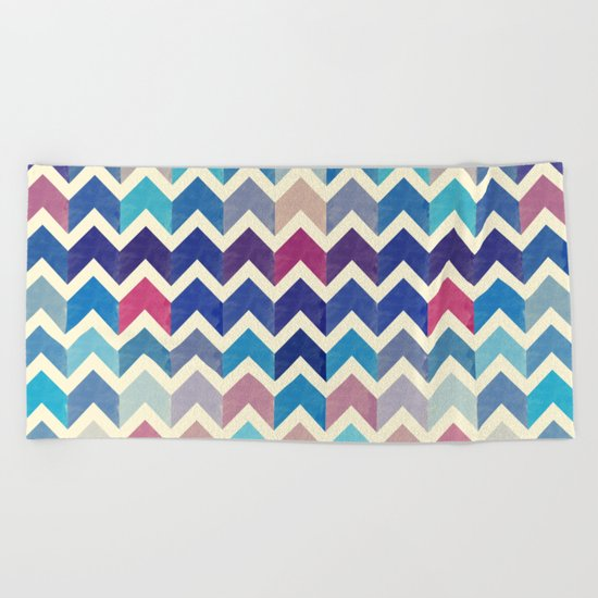 Chevron Pattern VIII Beach Towel