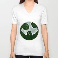 hulk V-neck T-shirts featuring Hulk by Duke Dastardly
