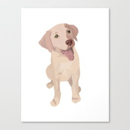 Golden (Lab) Girl Canvas Print