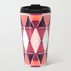 Art Deco Triangles Orange Travel Mug