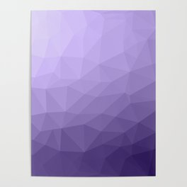 Ultra violet purple geometric mesh Poster
