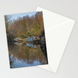 Tranquility of life on a narrowboat Stationery Cards
