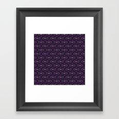 Pixel Heart Love Framed Art Print