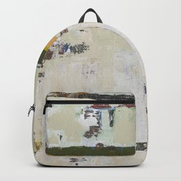 Chariot White Abstract Modern Painting Art Backpack