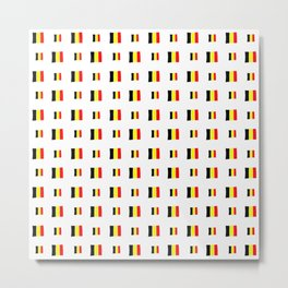 Flag of belgium 8 handmade Metal Print