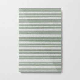 sydney stripes irregular - sage Metal Print