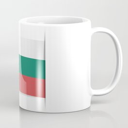 Flag of Bulgaria. The slit in the paper with shadows. Coffee Mug